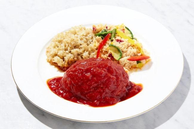 鶏肉豆腐ハンバーグセット