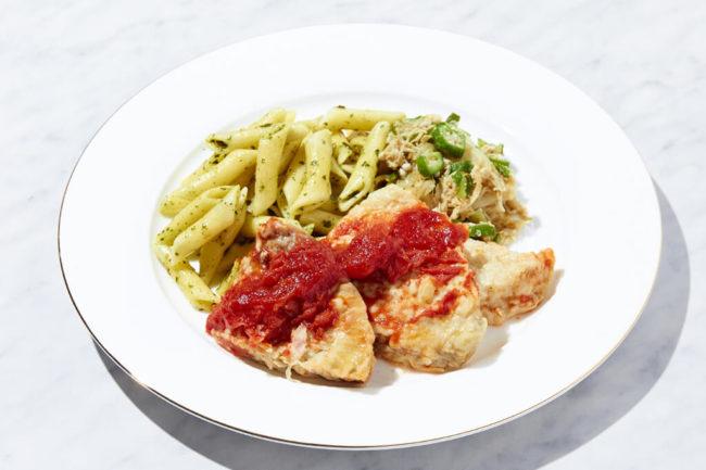 白身魚のイタリアンソテーセット